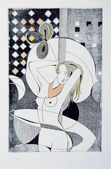 Dolci movenze - acquaforte, cm 25x35, 1976